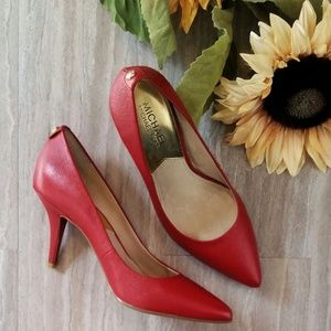 Michael Kors Red Saffiano Leather Pumps - Size 6